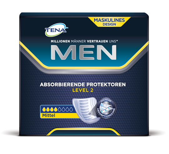 Tena Men Level 2, Medium Inkontinenz Einlagen