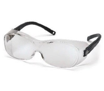 Überbrille OTS XL, schwarze Fassung, farblose Scheiben