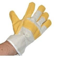 Lederhandschuh mit Handrücken