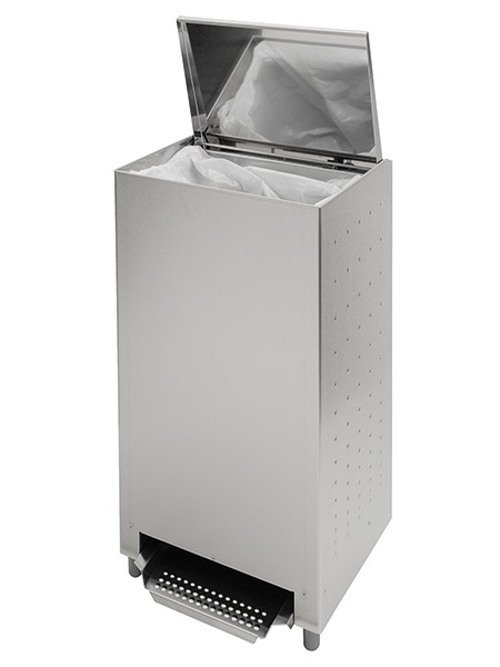 NWB stainless steel waste bin with foot control 24l, 50l or 70l