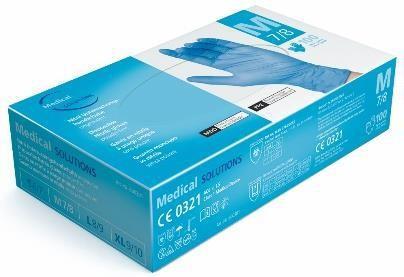 Nitril Handschuh Medical Solutions blau