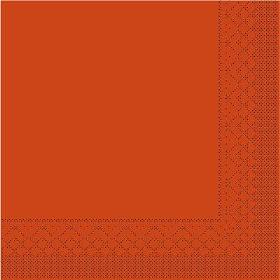 Cocktailserviette Tissue 3-lagig terrakotta