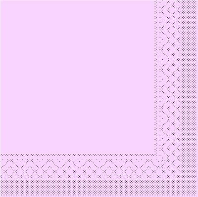 Cocktailserviette Tissue 3-lagig rosa