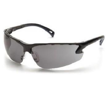 Schutzbrille Venture 3, schwarze Fassung, graue Scheiben