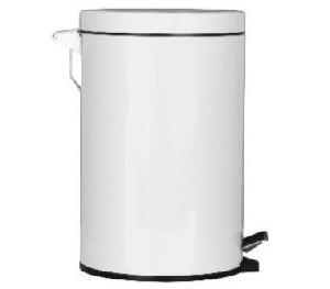 Treteimer 30.3 Liter Kunststoff weiss