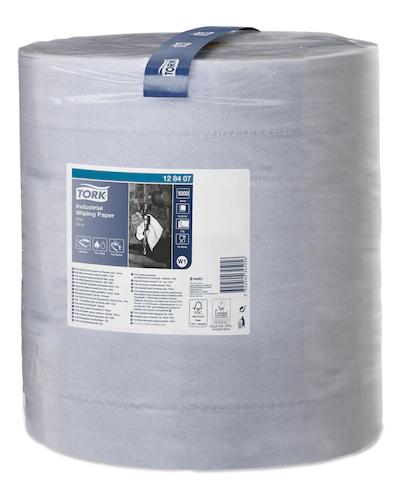 Reinigungsrollen Maxi Recycling blau 3-lagig TORK