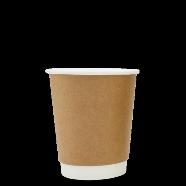 Organic coffee mug double walled brown (200ml, 300ml, 400ml)