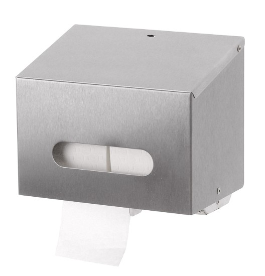 Edelstahl Zweifach WC-Rollenspender