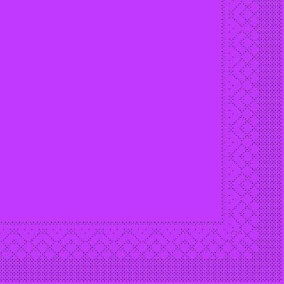 Servietten Tissue 1/4 Falz 3-lagig div. Farben