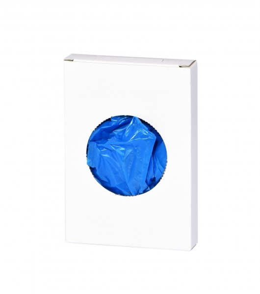 Hygiene bag in cardboard box