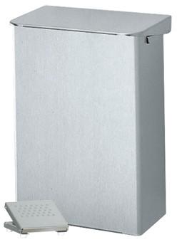Abfallbehälter mit Fusspedal Aluminium 36l
