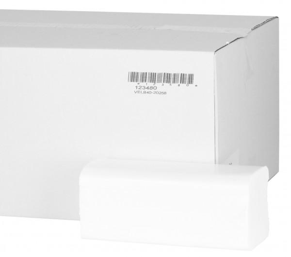 Serviettes en papier Premium pli en V 2 épaisseurs (4000pcs)