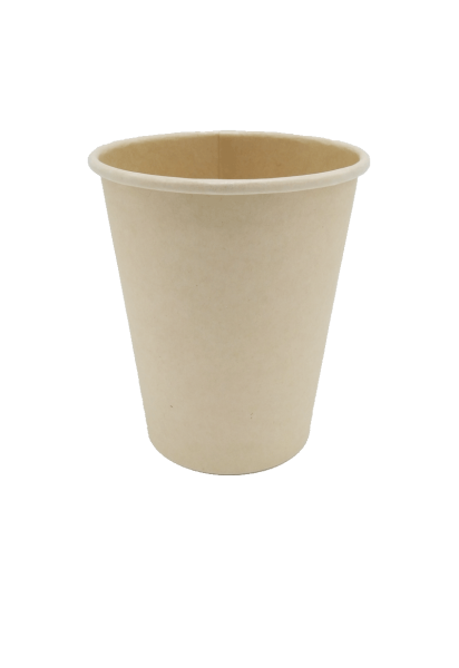 Organic disposable cups unbleached (100ml, 200ml, 300ml, 400ml)