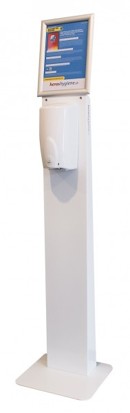 Disinfection column with sensor for disinfection foam