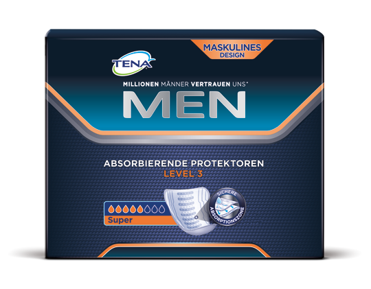 Tena Men Livello 3, Super Incontinenza Pads