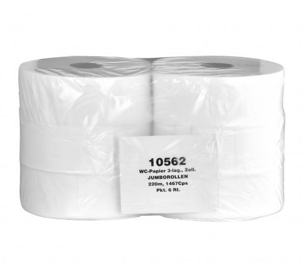 WC-Papier Zellstoff 3-lagig