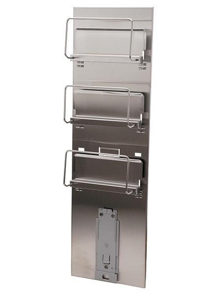 Wandhalter Edelstahl für 3 Handschuhboxen und 1 Spender flexibel
