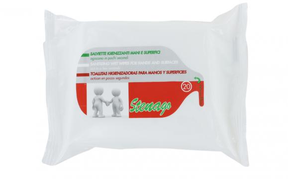 Desinfektionstücher für Hände und Flächen Reisegrösse