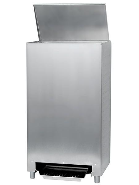 Abfallbehälter mit Fusspedal Edelstahl 50l