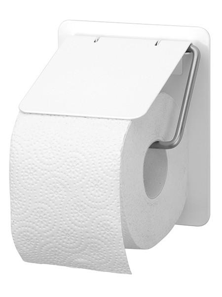 Toilettenpapierhalter Edelstahl weiss