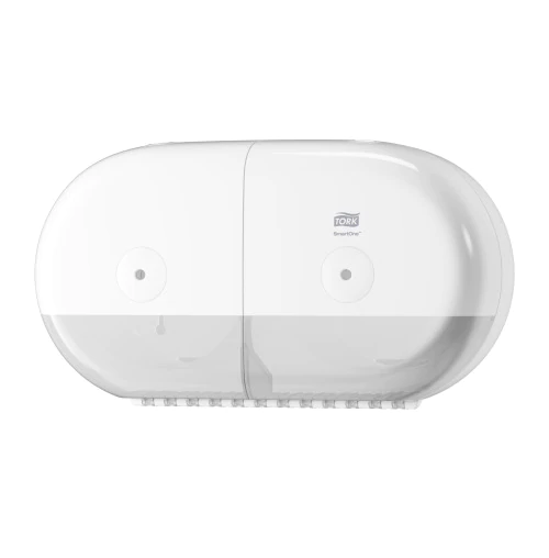TORK SmartOne Mini double roll toilet paper dispenser