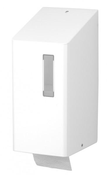 Toilettenpapierspender Edelstahl weiss Standardrollen