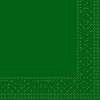 Cocktailserviette Tissue 3-lagig grün