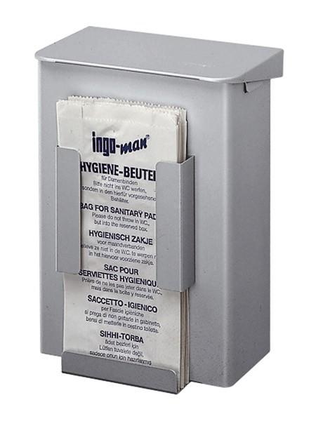 Hygieneabfallbox und Hygienepapierspender Aluminium