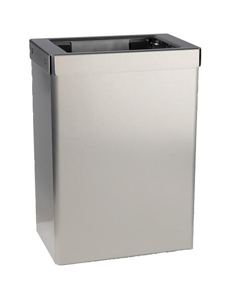 EBU stainless steel waste bin open 18l or 50l