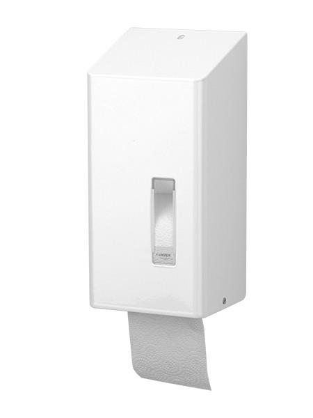 Toilettenpapierspender Edelstahl weiss Einzelblatt